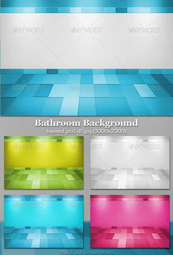 GraphicRiver Bathroom Background 679171