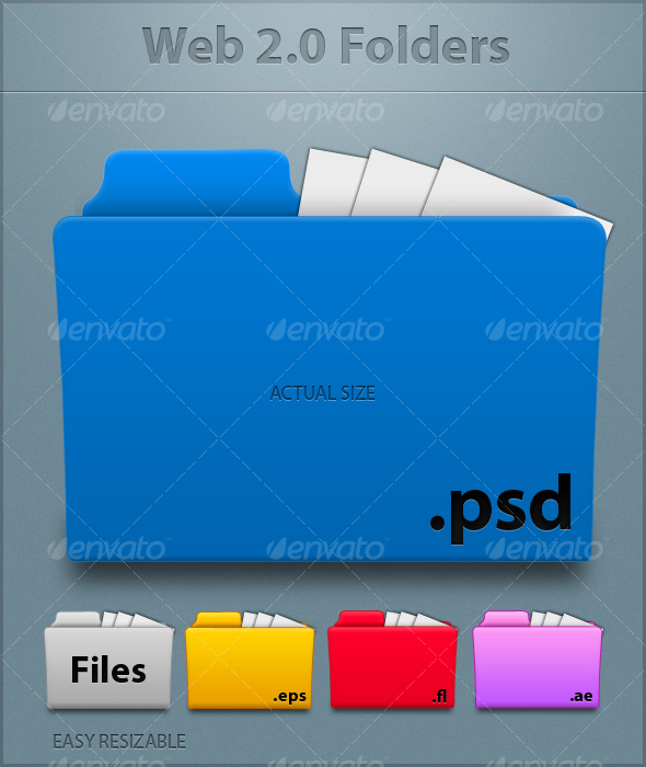 GraphicRiver Web 2.0 Folders 64297