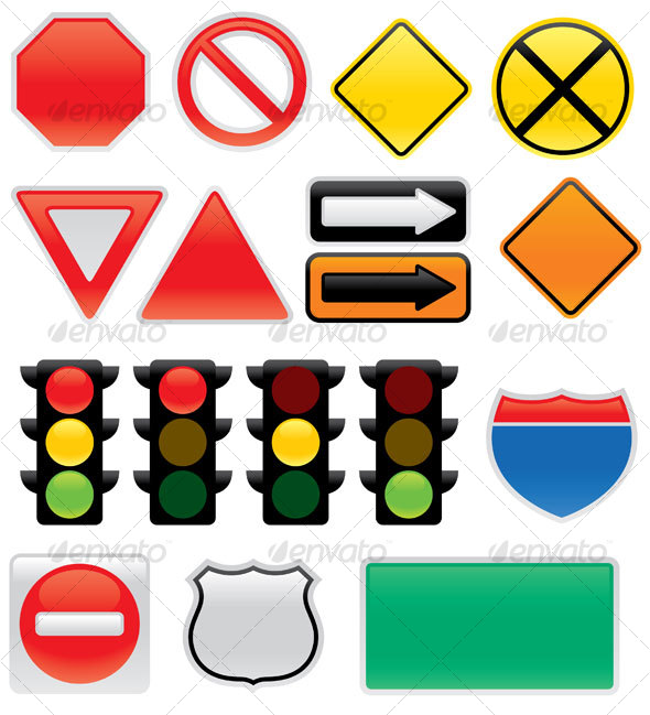 GraphicRiver Map And Traffic Signs And Symbols 64311