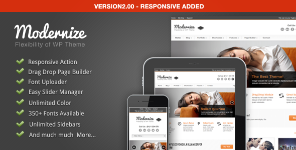 WordPress – Modernize – Flexibility of WordPress | ThemeForest
