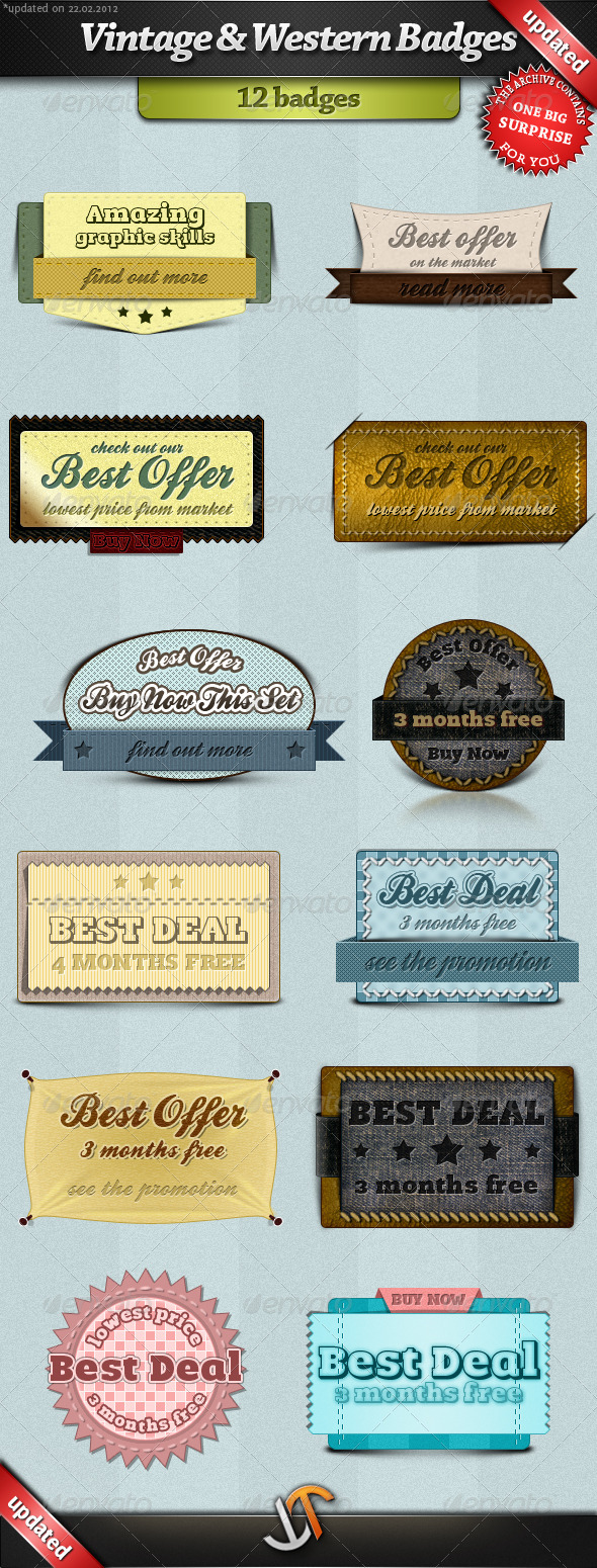 GraphicRiver Vintage and Western Badges 240281