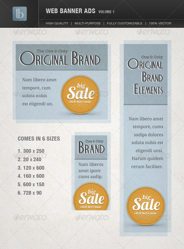 GraphicRiver Web Banner Ads Volume 1 1651620