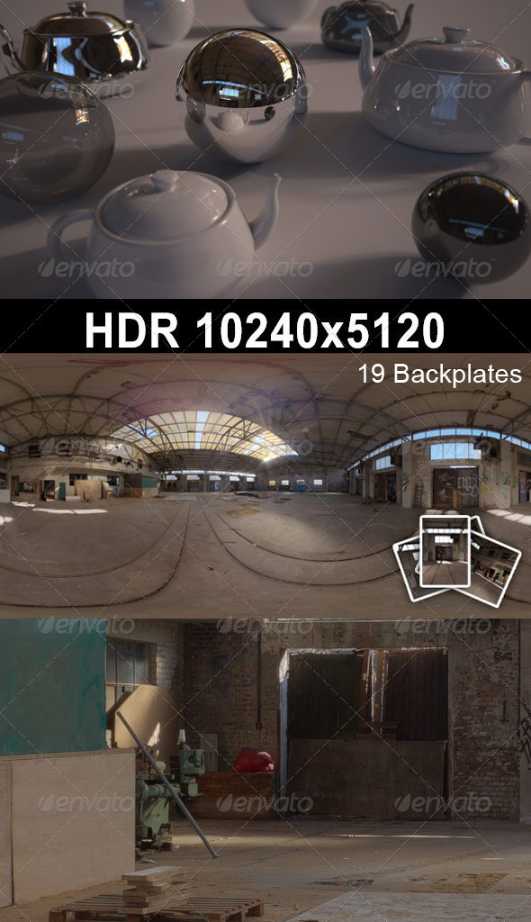 3DOcean HDR 105 Old Factory CG Textures -  HDRI Images  Interior 1608102
