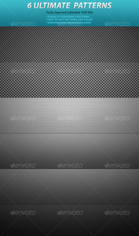GraphicRiver 6 Ultimate Patterns 64299