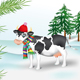 Cow in winter coniferous wood - GraphicRiver Item for Sale