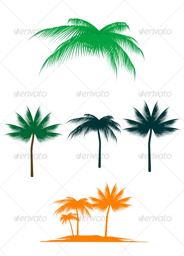 GraphicRiver Palm tree set 64998