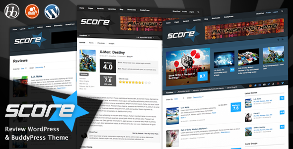Themeforest - Score: Review WordPress & BuddyPress Theme