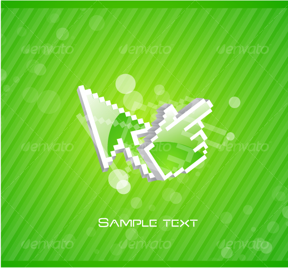 GraphicRiver Abstract background with mouse pointers 65093
