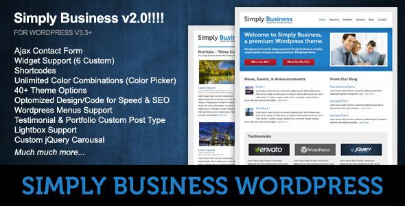 ThemeForest Simply Business Wordpress 88617