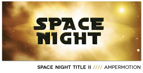 After Effects Project - VideoHive Space Night 3D Title II 1663905