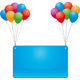celebrate balloons and banner - GraphicRiver Item for Sale