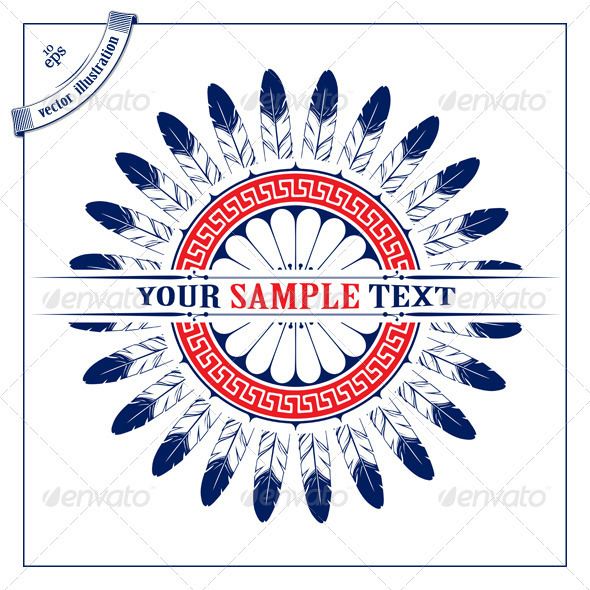 GraphicRiver Feather Circle Pattern Boarder 1674033