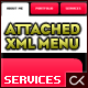 Attached XML Menu - ActiveDen Item for Sale