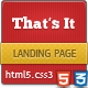 That's It - landing page - ThemeForest Item for Sale