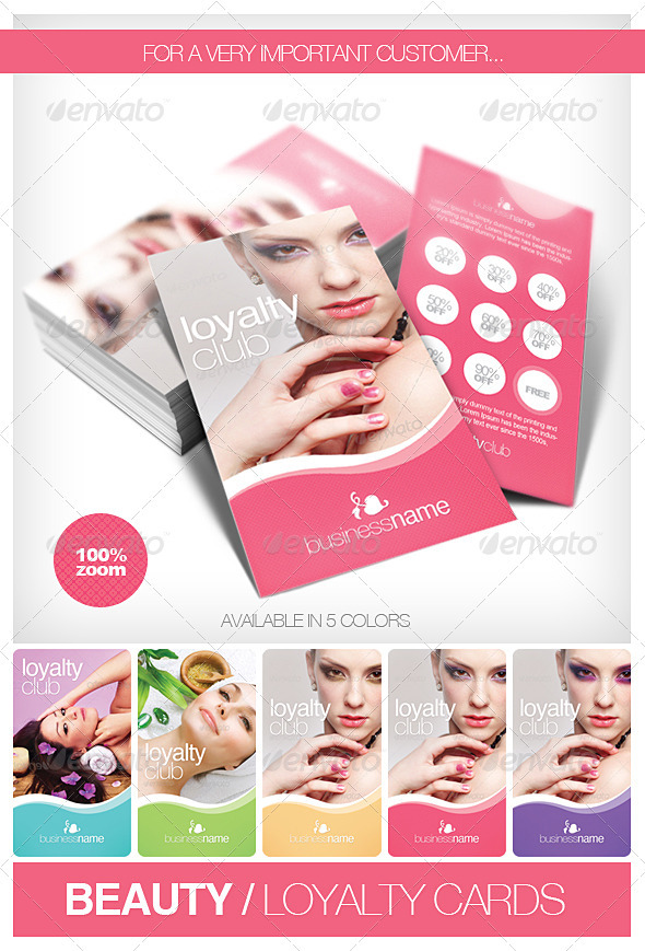 GraphicRiver Beauty Fashion Loyalty Cards 1679348