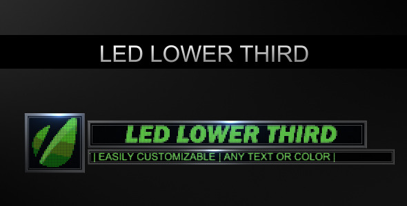 VideoHive LED Lower Third 1664013