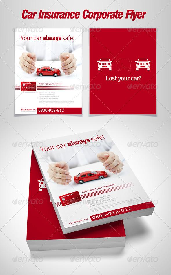 GraphicRiver Car Insurance Corporate Flyer 1679938