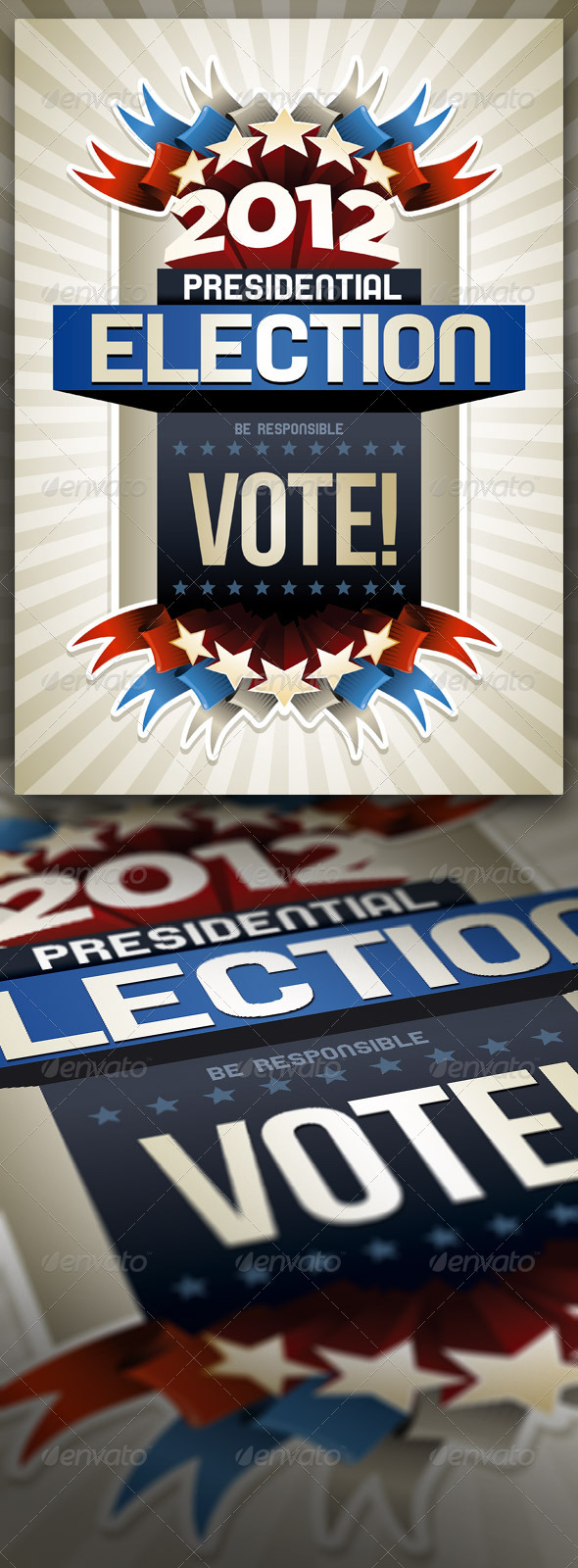 GraphicRiver 2012 American Presidential Election Poster 1580390