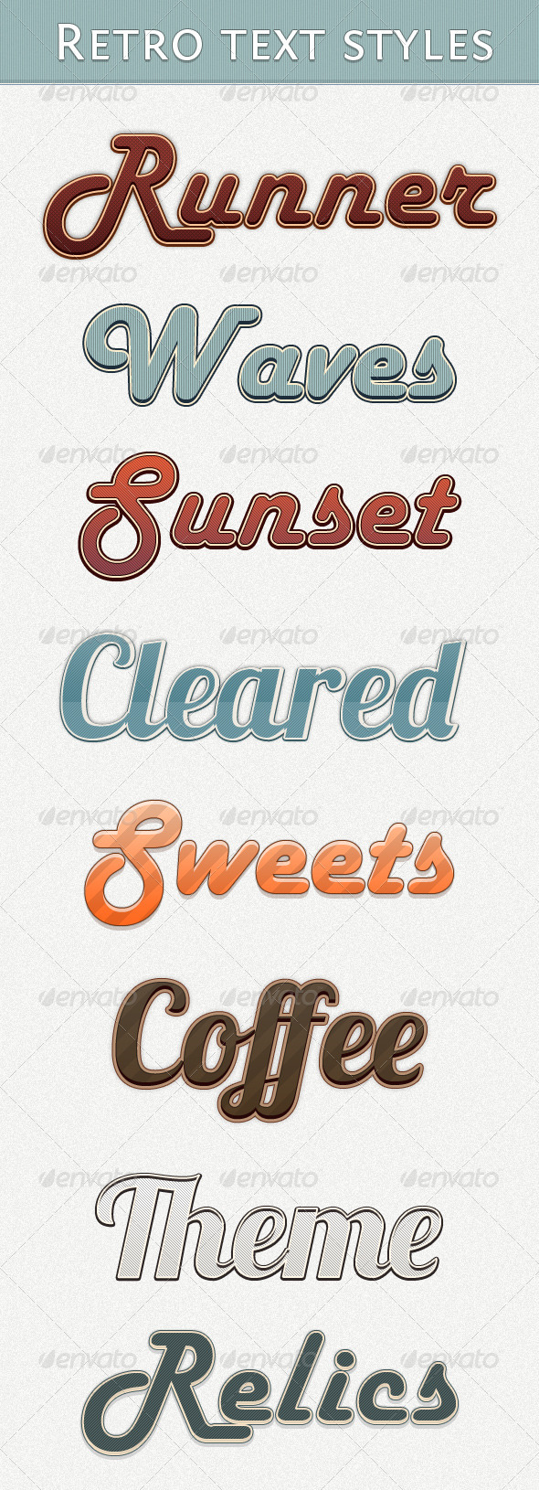 GraphicRiver Retro Text Styles 1681829