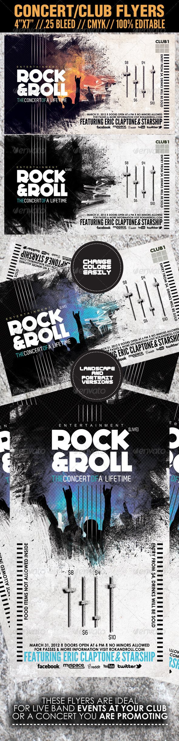 GraphicRiver Concert Club Flyer Template Rock and Roll 1681926