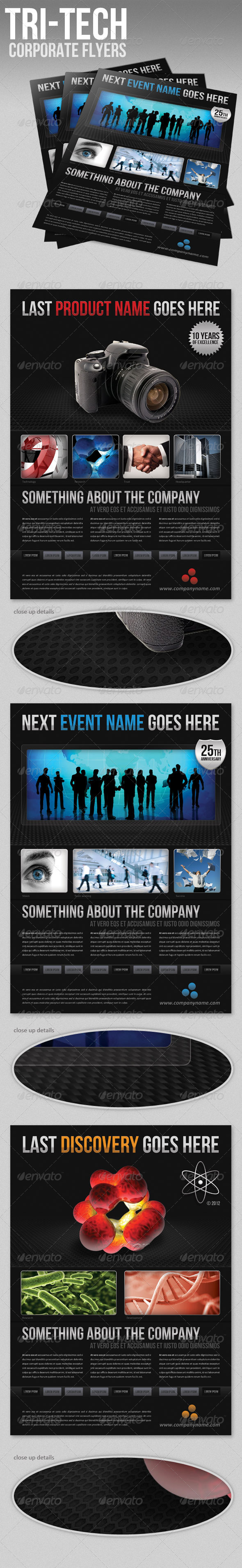 GraphicRiver Tri-Tech Corporate Flyer 1682004