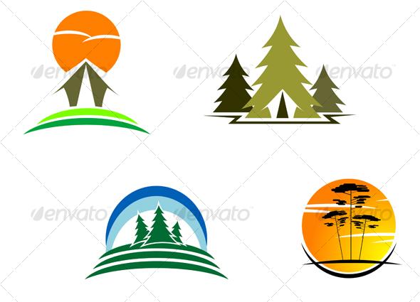 GraphicRiver Travel and tourism symbols 65685