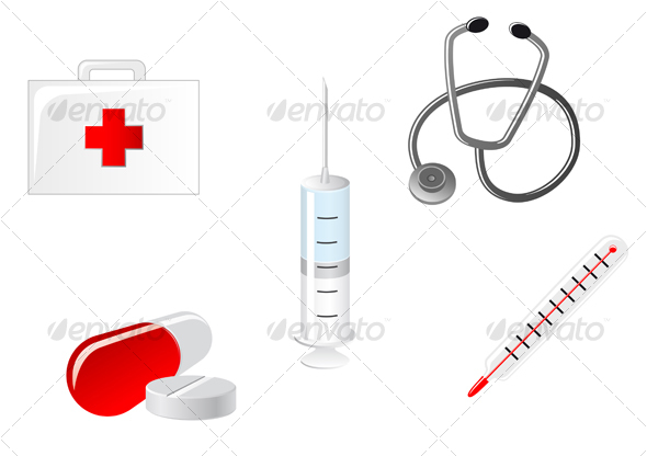 GraphicRiver Medical icons 65688