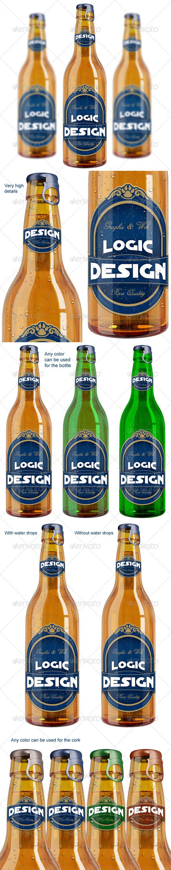 GraphicRiver Bottle Beer Mock Up 1682436
