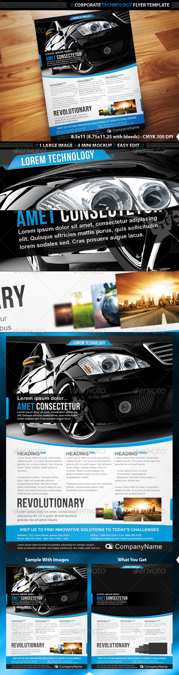 GraphicRiver Corporate Technology Flyer Template 1682683