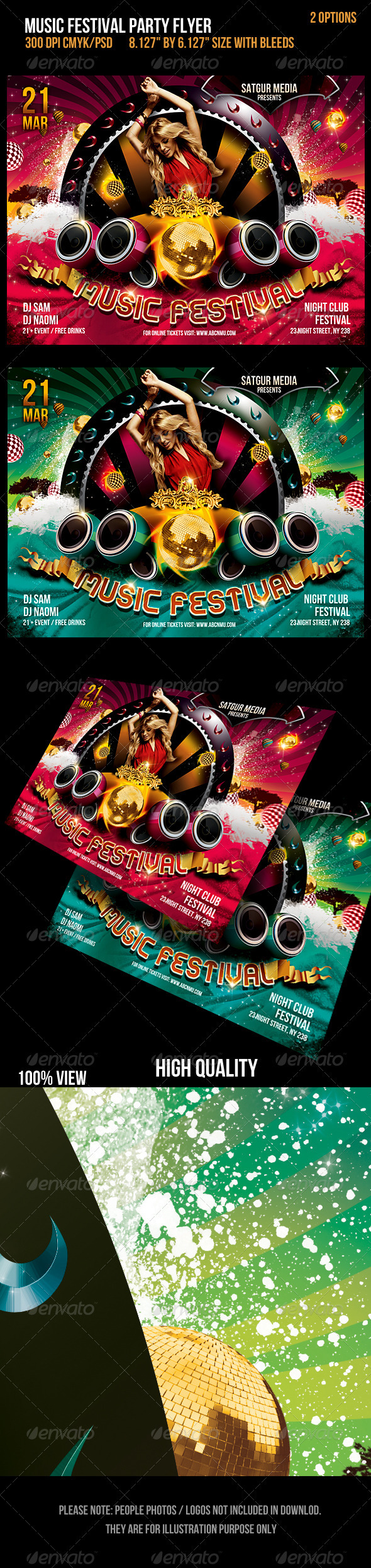 GraphicRiver Music Festival Dance Party Flyer 1682684