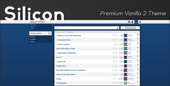 10 + Super Premium and Highly Responsive Forum Template For