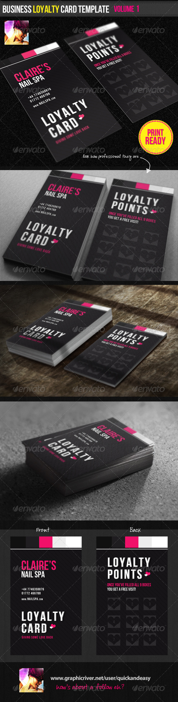GraphicRiver Business Loyalty Card Template Vol.1 1683400