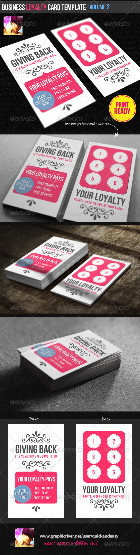 GraphicRiver Business Loyalty Card Template Vol.2 1683449