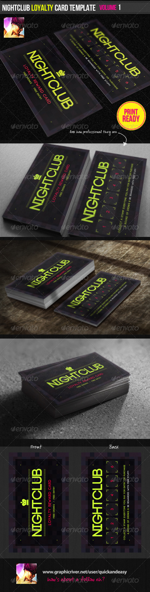 GraphicRiver Nightclub Loyalty Card Template 1683917