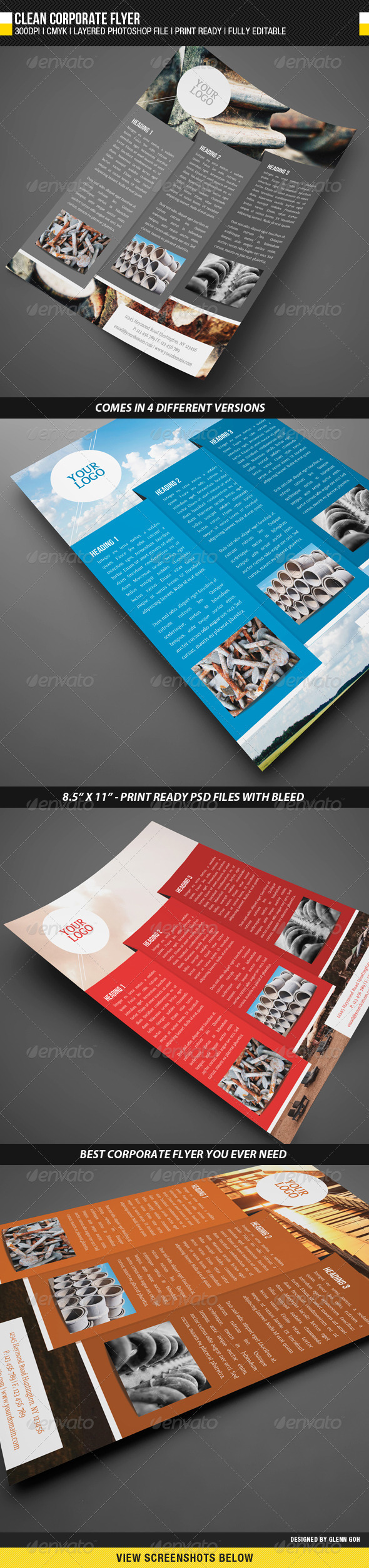 GraphicRiver Clean Corporate Flyer 1684503