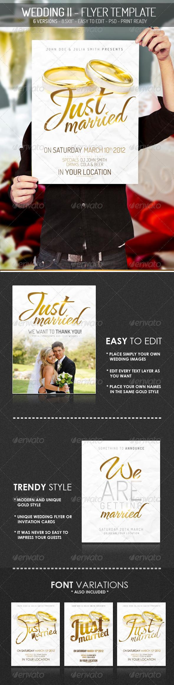 GraphicRiver Wedding II Flyer Template 1667481