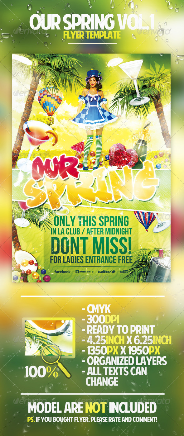 GraphicRiver Our Spring Vol.1 Flyer Template 1686294