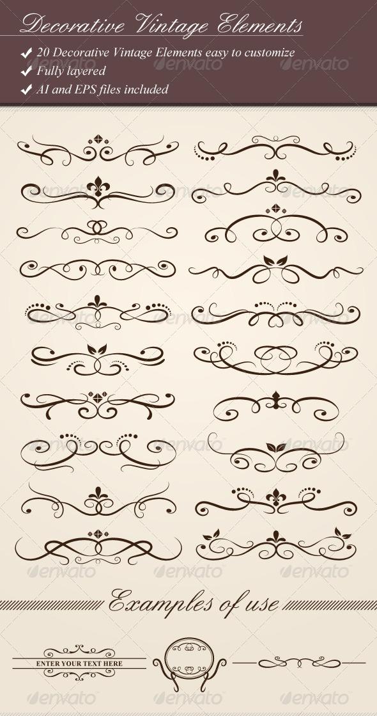 GraphicRiver Decorative Vintage Elements 1686628