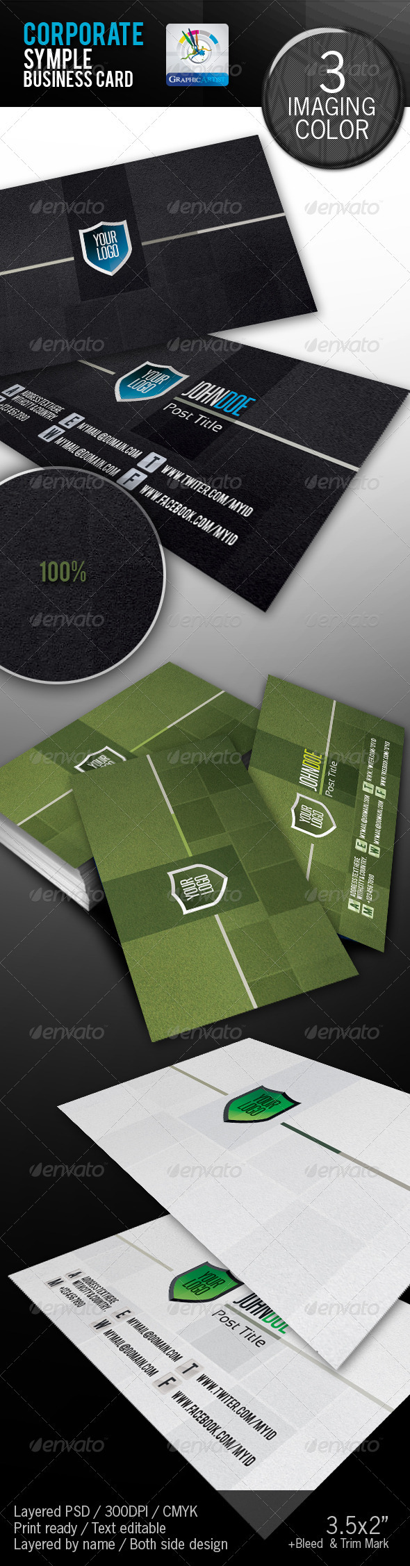 GraphicRiver Corporate Creative Business Card 1686924
