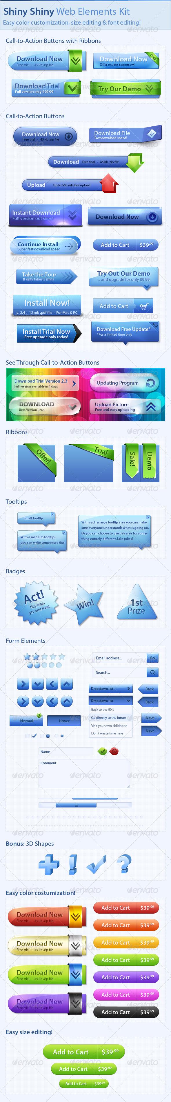 GraphicRiver Shiny Shiny Web Elements Kit 1687008