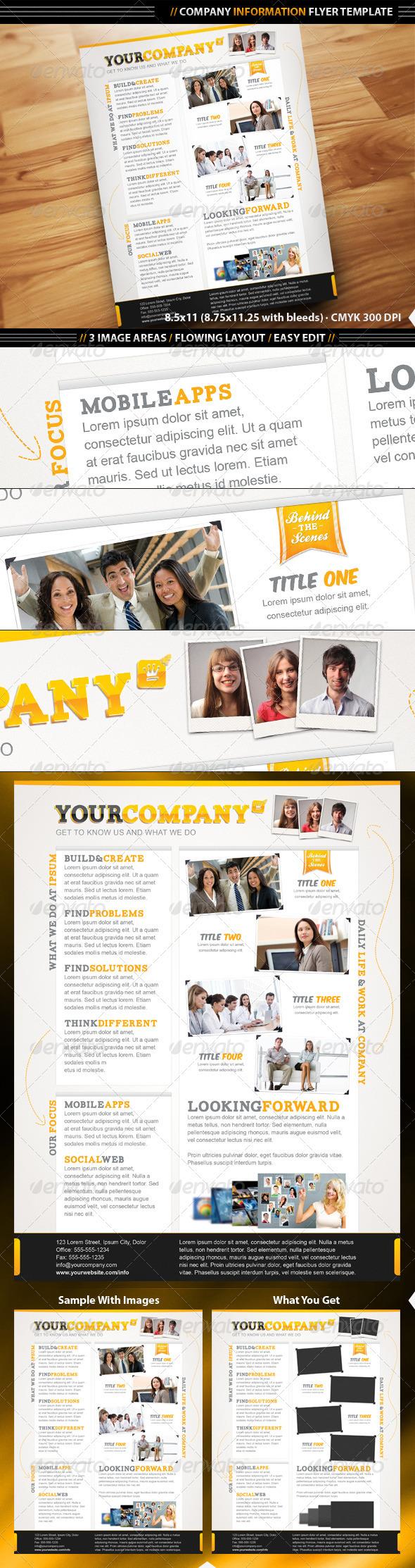 GraphicRiver Company Info Flyer Template 1687034