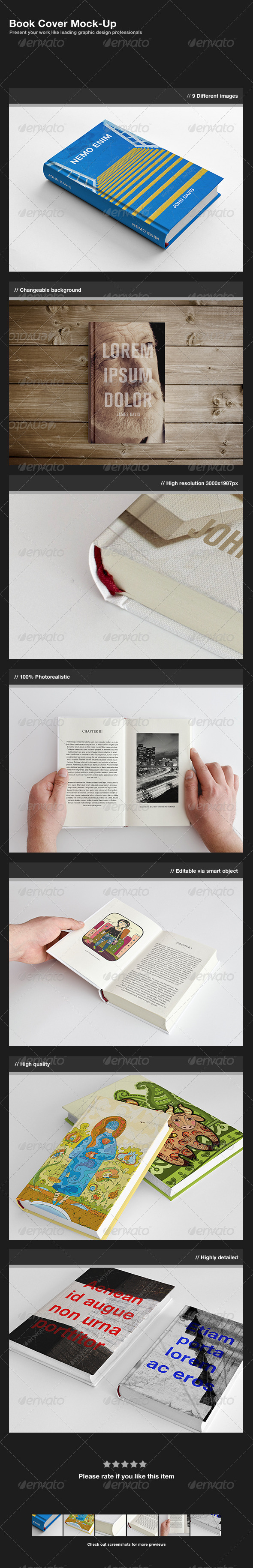 GraphicRiver Book Cover Mock-Up 1687037
