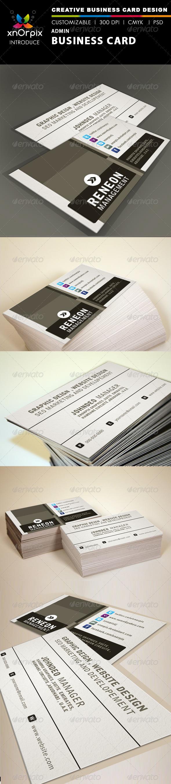 GraphicRiver Admin Business Card 1687067