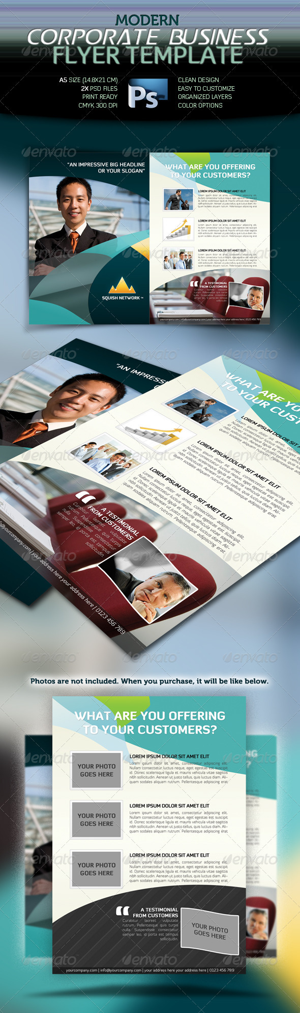 GraphicRiver Modern Corporate Business Flyer 1687304