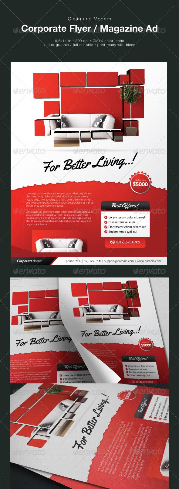 GraphicRiver Clean Corporate Flyer Magazine Ad 1687536