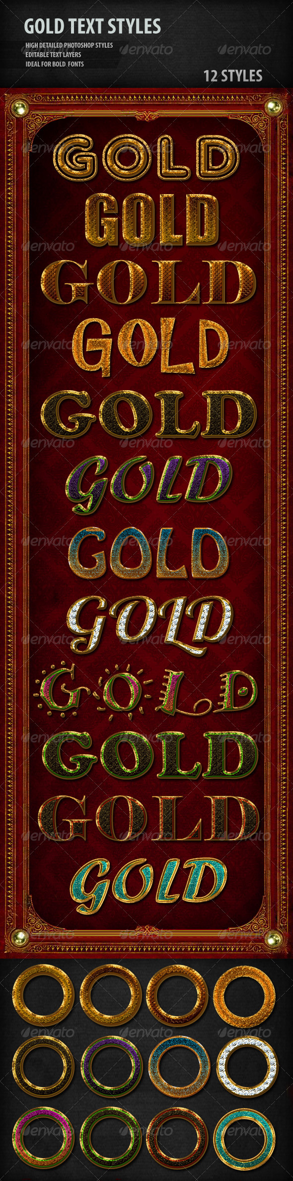 GraphicRiver Gold Text Styles 1687825