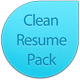 Clean Resume Pack - GraphicRiver Item for Sale