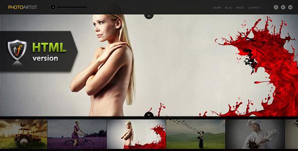 ThemeForest PhotoArtist Photo Showcase HTML Theme Site Templates Creative Photography 1688553