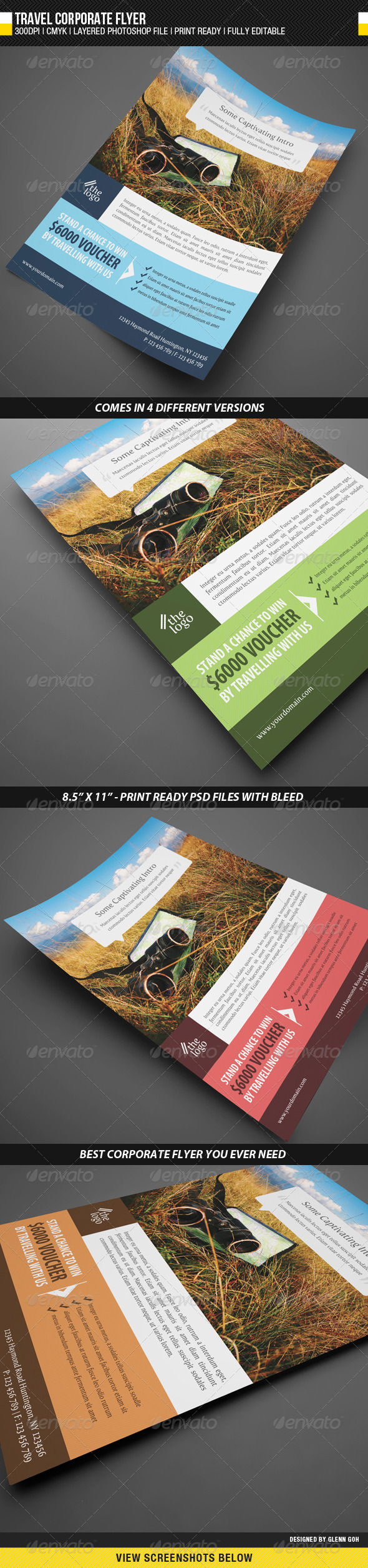 GraphicRiver Travel Corporate Flyer 1690390