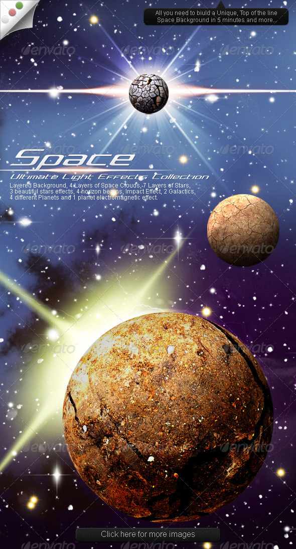 GraphicRiver Ultimate Light Effects Collection Space 1690423